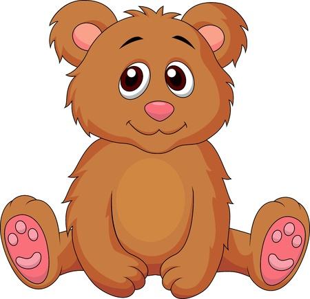 cachorro: Beb� lindo oso de dibujos animados