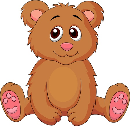 Cute baby bear cartoon Stock Vector - 18879155