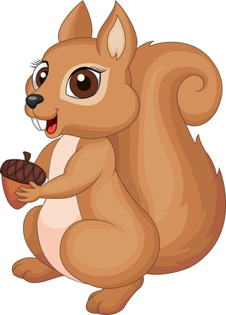 6,116 Cartoon Squirrel Stock Vector Illustration And Royalty Free ...
