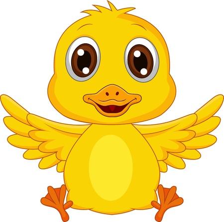pato caricatura: Beb� lindo de la historieta del pato