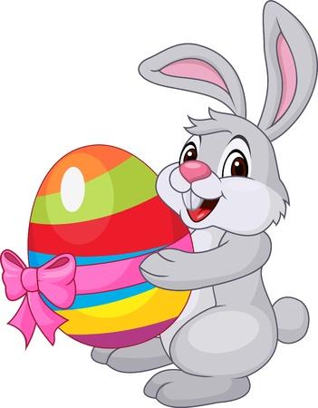 pascuas navide�as: Lindo conejo con huevo de Pascua