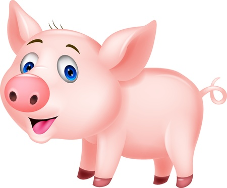 pig cartoon: Cute pig cartoon