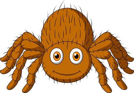 Cute tarantula spider cartoon Stock Vector - 19119547