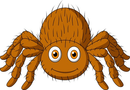 Cute tarantula spider cartoon Illustration