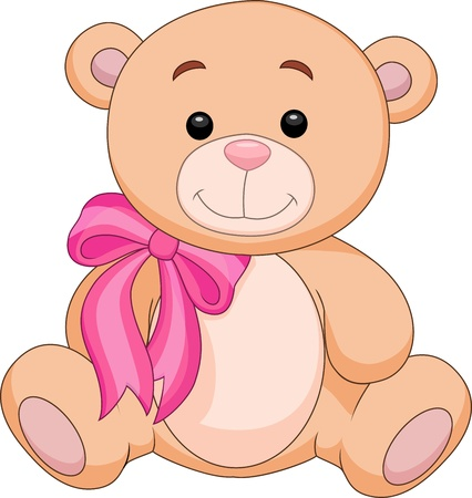 Cute brown bear stuff cartoon