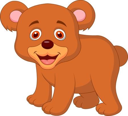 カブ: かわいい赤ちゃんのクマの漫画  イラスト・ベクター素材
