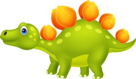 Cute stegosaurus cartoon Vector