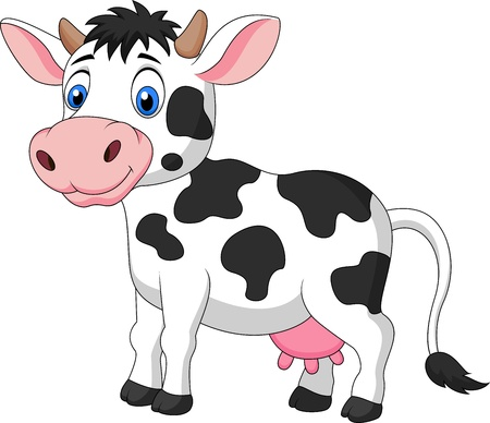 cub: Cute cow cartoon Illustration