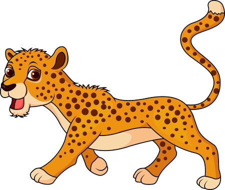 cheetah: Guepardo lindo de dibujos animados Vectores