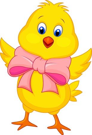 Cute baby chicken cartoon Stock Vector - 19119618