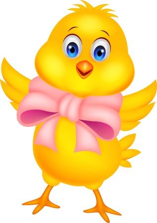 Cute dibujos animados de pollo bebé