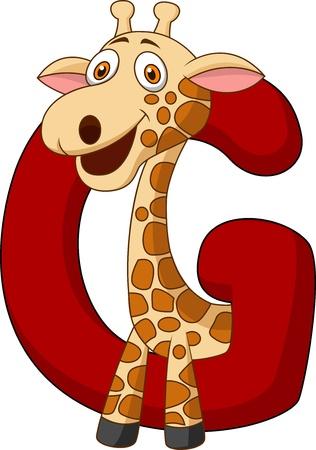 g giraffe: Alphabet G with giraffe
