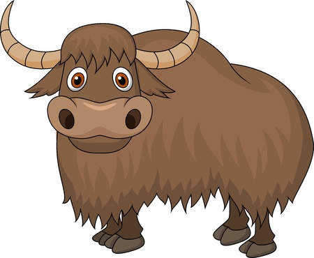 Yak cartoon Vector