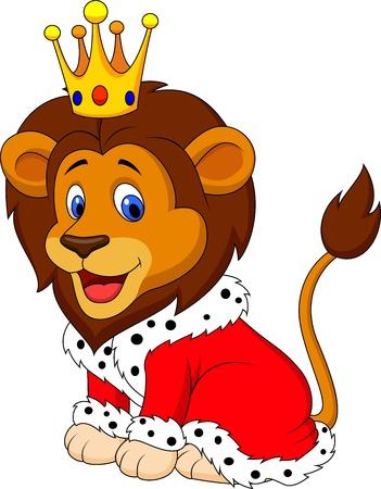 León de la historieta en traje de rey
