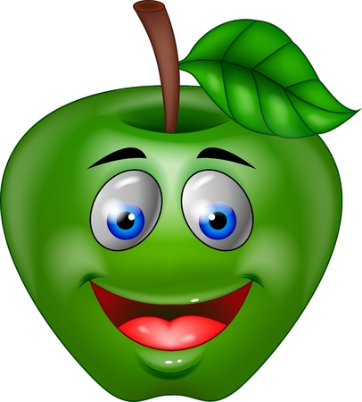 Green apple cartoon photo