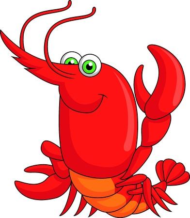 Cute lobster cartoon photo