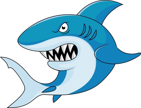 colorful fishes: Shark cartoon
