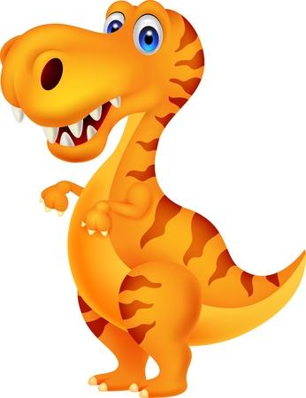 cute creature: Dinosaur cartoon