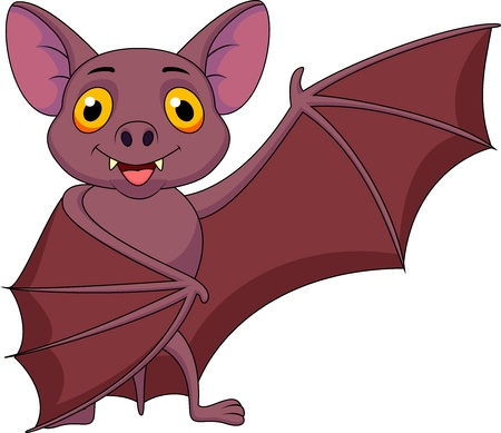 Bat cartoon waving photo