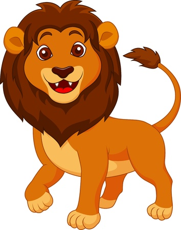 Cute lion cartoon Stock Photo - 19287902