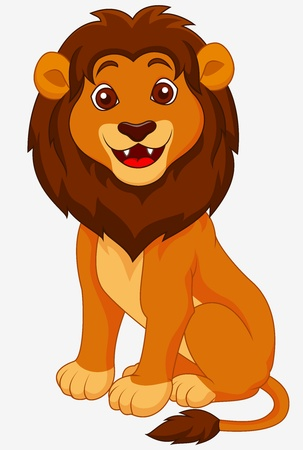 Funny lion cartoon Stock Photo - 19287907