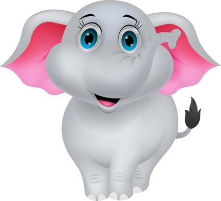 safari animal: Cute elephant cartoon Stock Photo