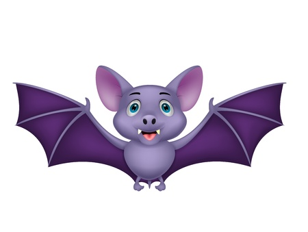 cartoon vampire: Bat cartoon flying