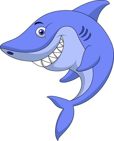 shark fin: Cute shark cartoon Illustration