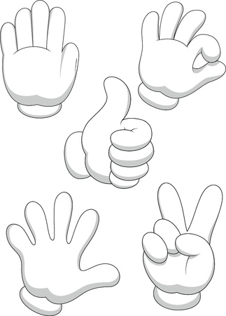 knuckle: Hand sign cartoon