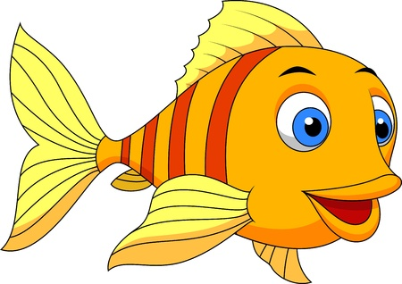 marine fish: Cute fish cartoon Illustration