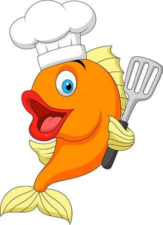 Fisch chef cartoon
