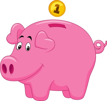 Piggy bank cartoon Stock Vector - 19583221
