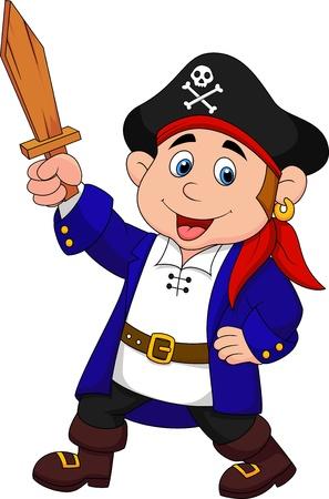 carnival costume: Pirate boy cartoon