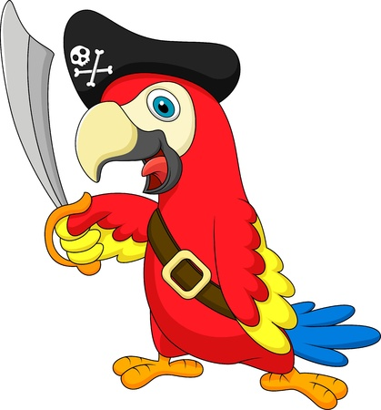 perroquet pirate mignon perroquet pirate bande dessine