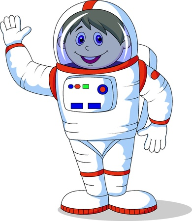 Astronaut cartoon Vector