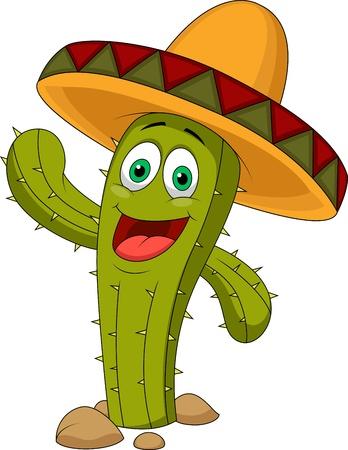 Netter Kaktus Zeichentrickfigur