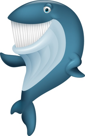 cetacean: Cute whale cartoon waving