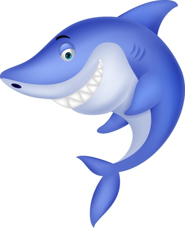 Cute shark cartoon Stock Vector - 19583387