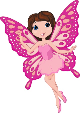 cartoon fairy: Cute pink fairy cartoon Illustration