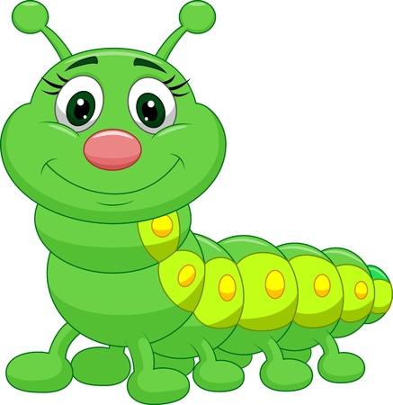 bruchi: Carino bruco verde cartone animato