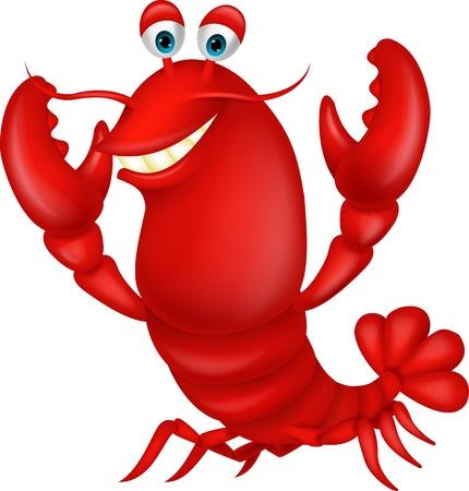 Cute lobster cartoon Stock Vector - 20017538