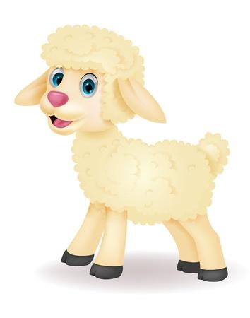 Bande dessinée mignonne de moutons Vecteurs