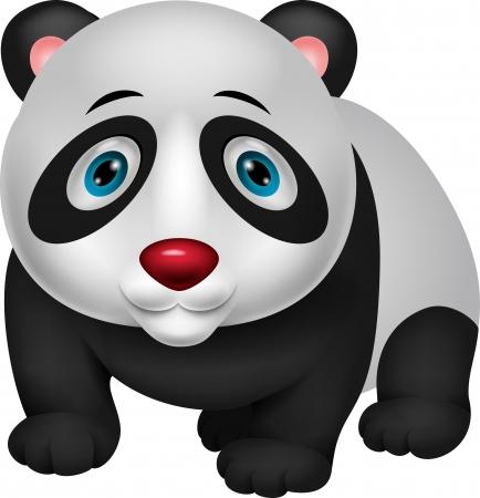 panda cub: Cute panda cartoon Illustration
