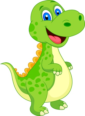 raptor: Cute dinosaur cartoon