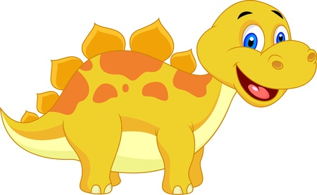 stegosaurus: Cute dinosaur cartoon
