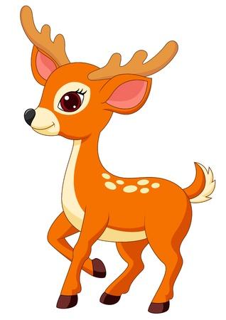 venado: Dibujos animados lindo ciervo