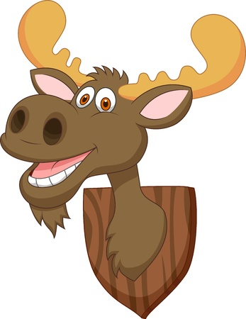 moose antlers: Moose head cartoon Illustration