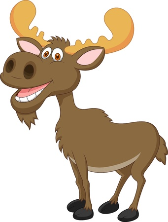 Moose cartoon Vector