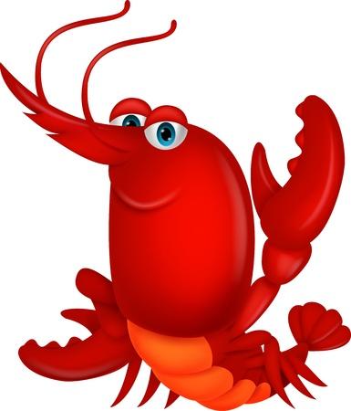 crayfish: Cute lobster cartoon