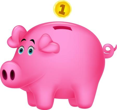 Piggy bank cartoon Stock Vector - 19855785